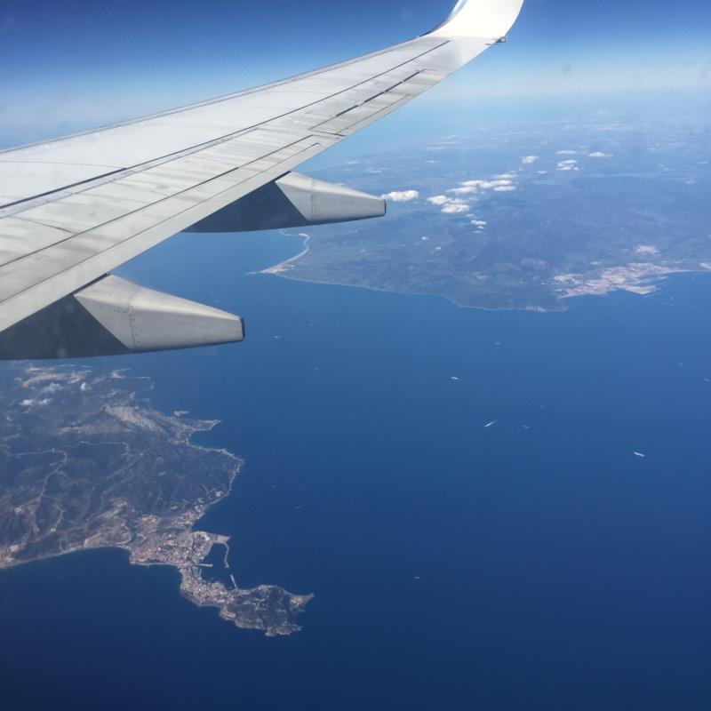 Blick aus Flugzeug