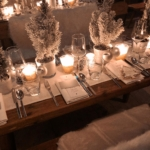 BEAUTIFUL DECORATIONS FOR  A FESTIVE TABLE SETTING