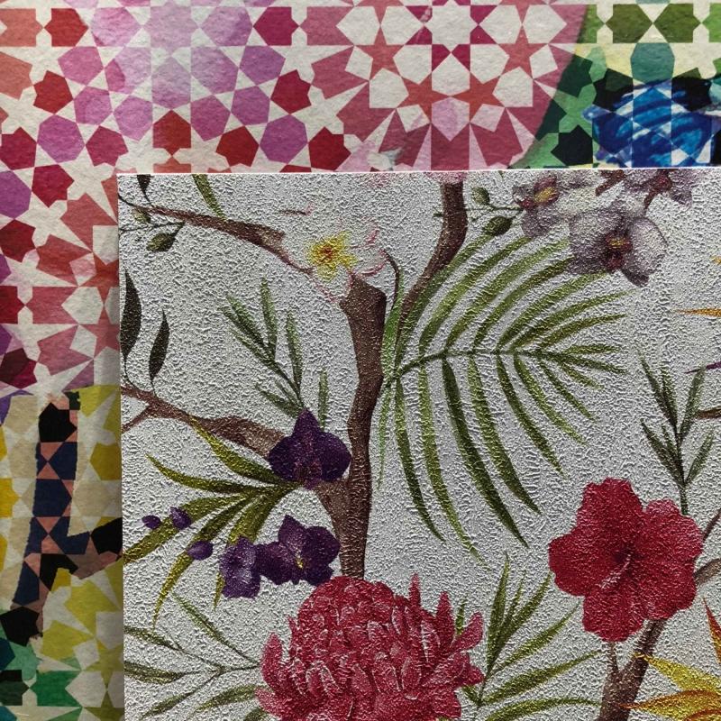 Tapeten Trends 2018, Tapeten, Mosaic Muster, Blumenmuster, Heimtextil 2018