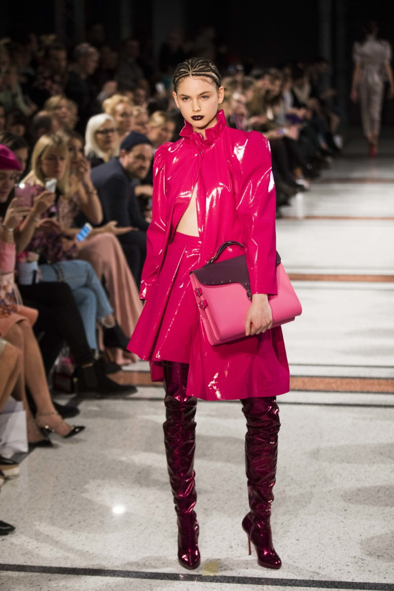 Fashion Walk - Pinker Regenmantel