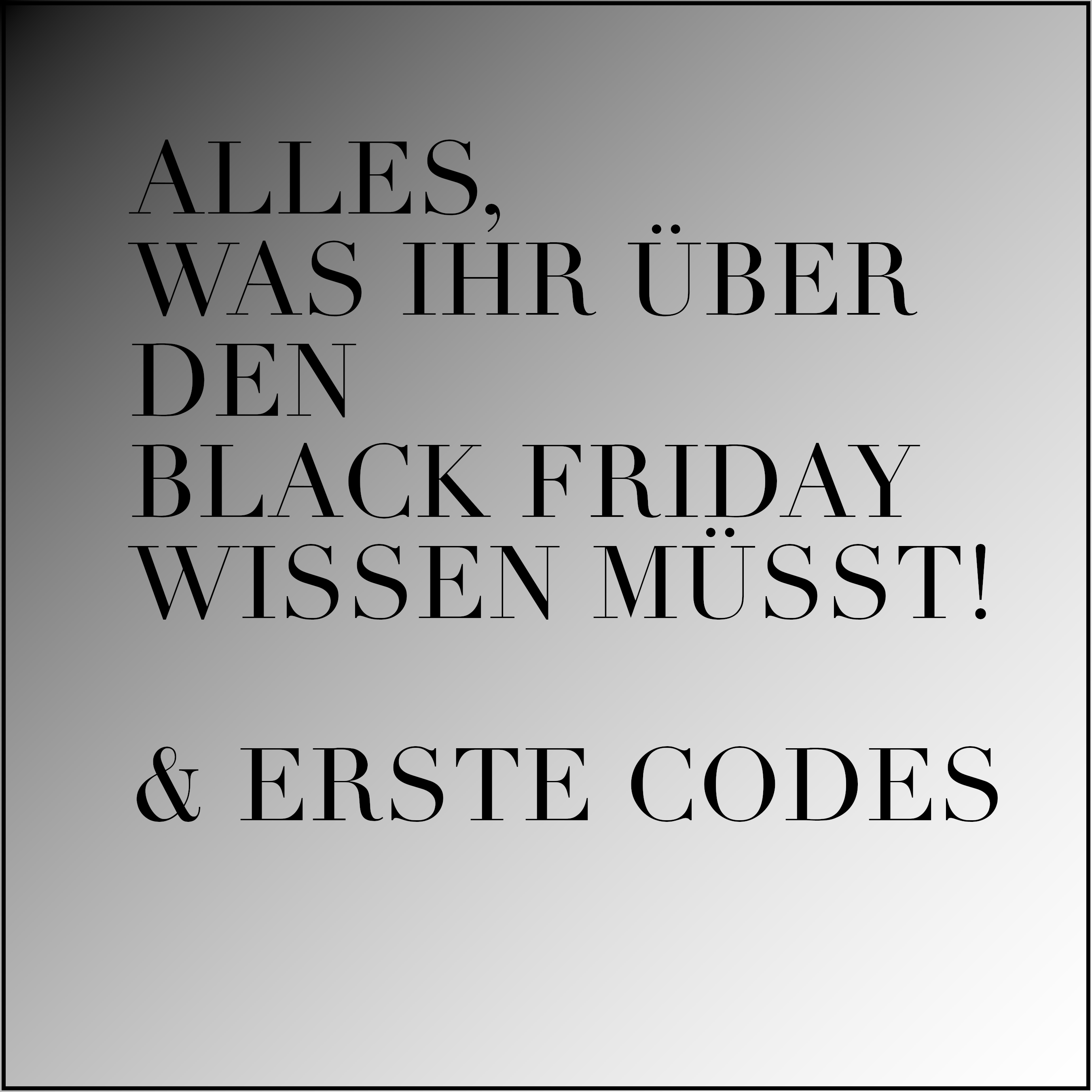 Black Friday 2017, Codes, Rabattcodes