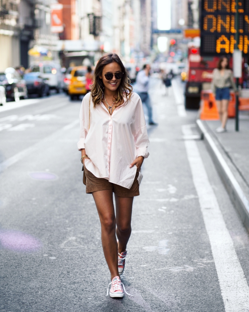 Streetstyle - Bluse, beige Hose